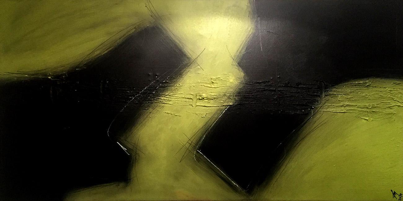 Acryl auf Leinwand 50x100x2cm