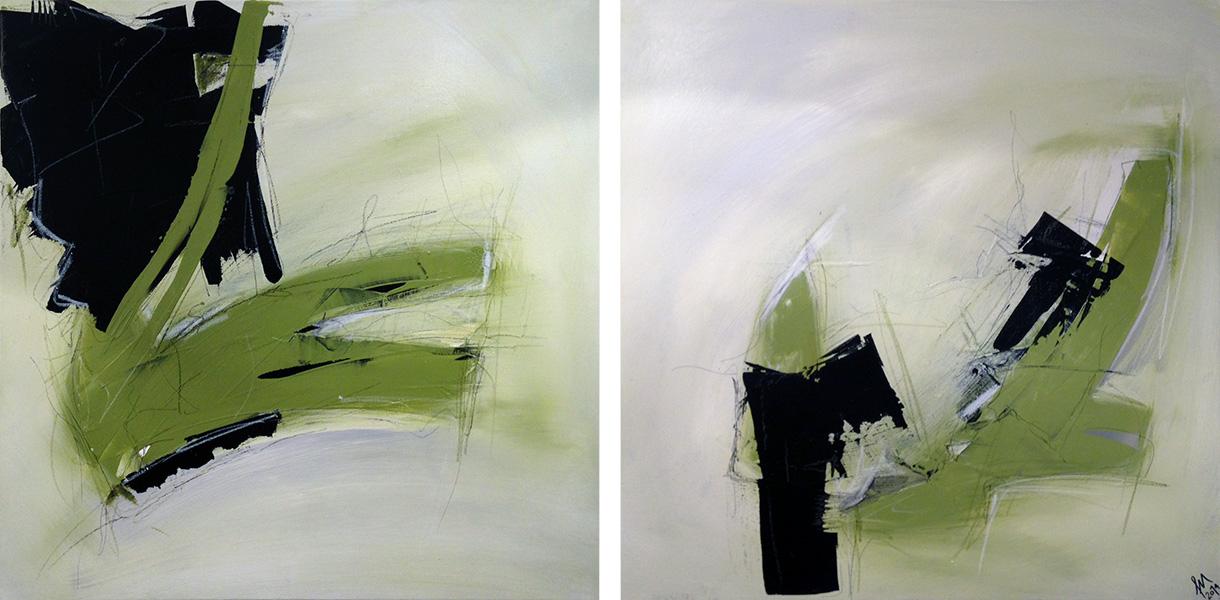 Acryl auf Leinwand 2er serie 60x60x5cm