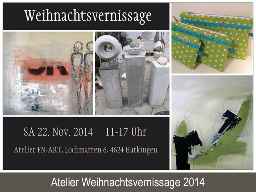 Atelier Weihnachtsvernissage 2014