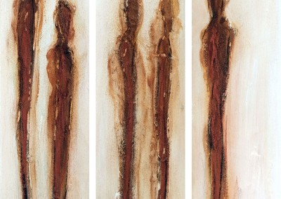 3er Serie 10x40x5cm Holz